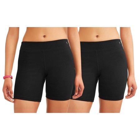 Athletic Works Women's Core Active Dri-Works Bike Short, 2 Pack Value Bundle