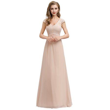 Ever-Pretty Women Elegant Lace V-neck Evening Wedding Party Dresses for Women 07997 US8