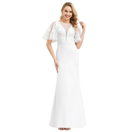 Ever-Pretty Womens Floral Lace Bridal Gowns Wedding Dresses for Women 00810 US4