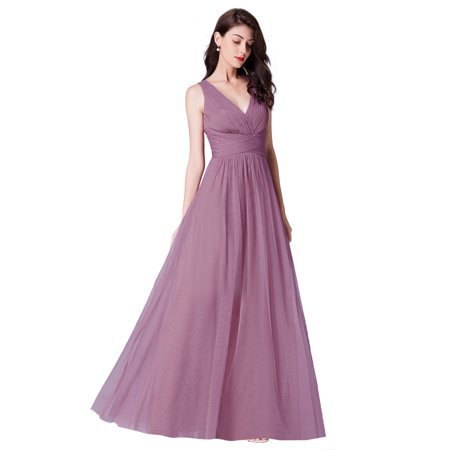 Ever-Pretty Womens Tulle Long Evening Wedding Party Bridesmaid Dresses for Women 07526 Orchid US04