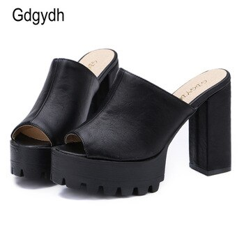 Gdgydh 2020 Hot Sales Summer Women Shoes Open Toe Platform Female Sandals Thick Heels Ladie Shoes Free Shipping Plus Sizes 34-43