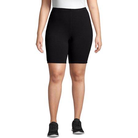 Just My Size Women's Plus Size Stretch Jersey Bike Short