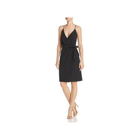 Laundry by Shelli Segal Womens Side-Tie Faux-Wrap Party Dress