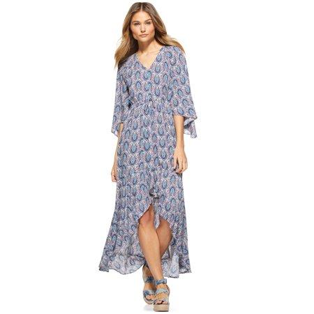 Scoop Women's High Low V-Neck Maxi Dress