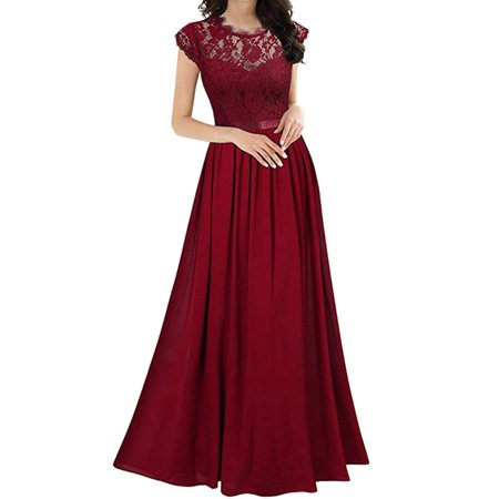 Sexy Dance Long Chiffon Formal Prom Gown For Women Evening Party Ball Gown Wedding Maxi Dress Ladies Formal Evening Party Bridesmaid 1/4 Sleeve Maxi Dress Wedding Prom Gown
