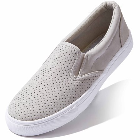 Shoes Womens Sneakers Low Top Slip On Flat Shoes Loafer Classic Sneakers Plain Closed Single Cutter Lady Boat Casual Slip-on Loafers Clay,pu,5