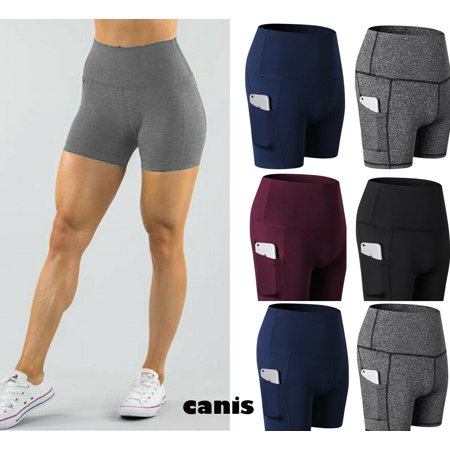 Simple Women Compression Yoga Shorts Sport Gym Fitness Running Butt Lift Booty Pants