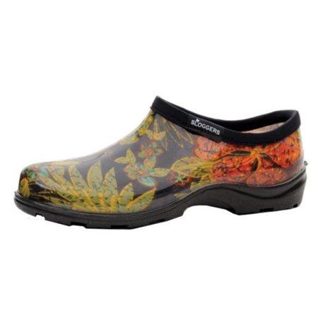 Sloggers 5102BK07 Womens Garden Shoe Midsummer Size 7 Black