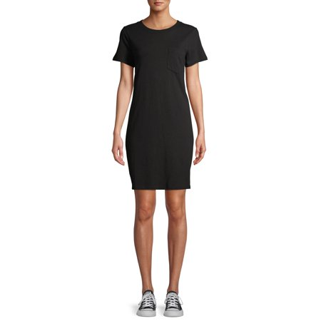 Time and Tru Women's T-Shirt Dress with Pocket