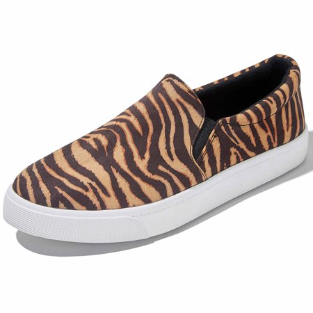 Woman Men Flat Slip On Summer Sport Shoes Sole Outdoor Traveling Sneaker Training Casual Slip-on Loafers Tiger,s,v,7.5