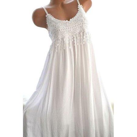 Women Casual Printing Sleeveless Sun Dress Floral Printed Tunic Dress
