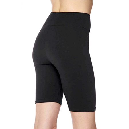 Women's 3 inch Wide Waistband Biker Leggings Bike Shorts