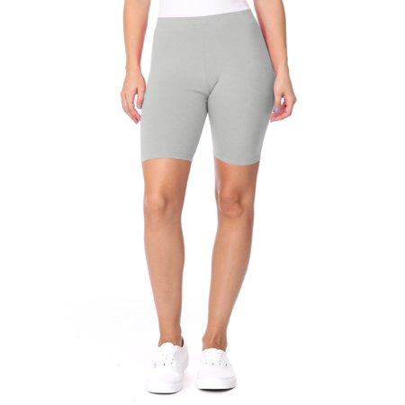 Women's Activewear Solid Workout Cycling Yoga Running High Waist Pants Biker Shorts Made in USA