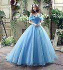 Women's Costume Off Shoulder Princess Wedding Dresses Gowns Bride Dress