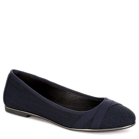 Womens Mitzie Slip On Mesh Flat Shoes
