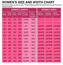 Womens Shoe Size Conversion Chart - US UK EU & Japanese - Reference
