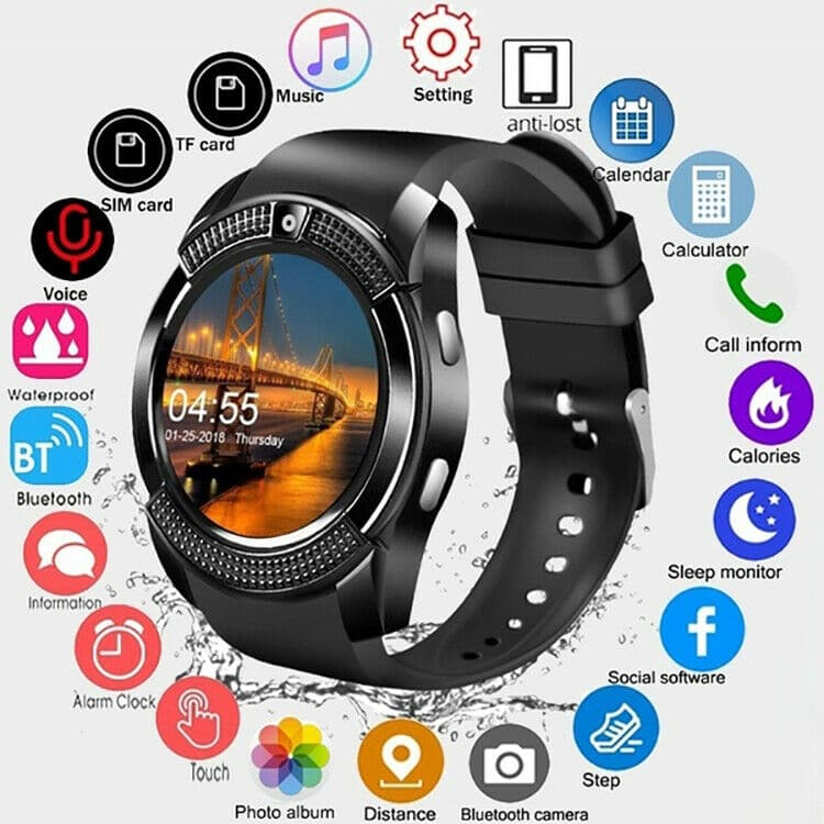 T500 smart watch bluetooth call blood pressure heart rate US seller