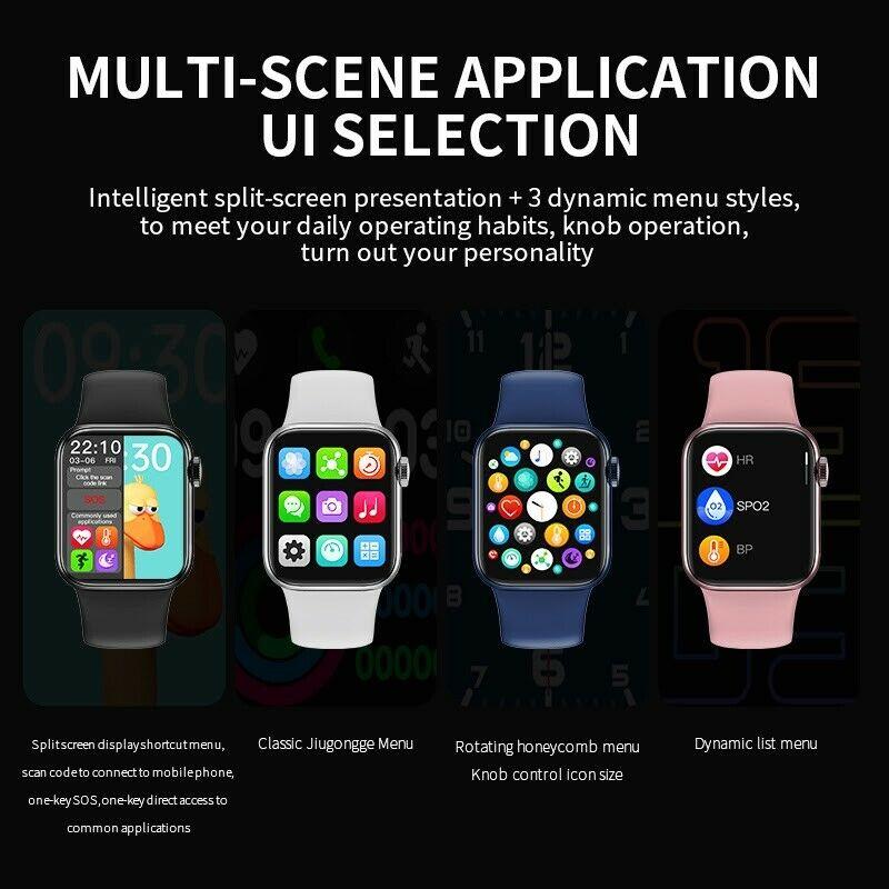2021 New Series6 HW12 Smart Watch Blood pressure unisex Fitness Tracker