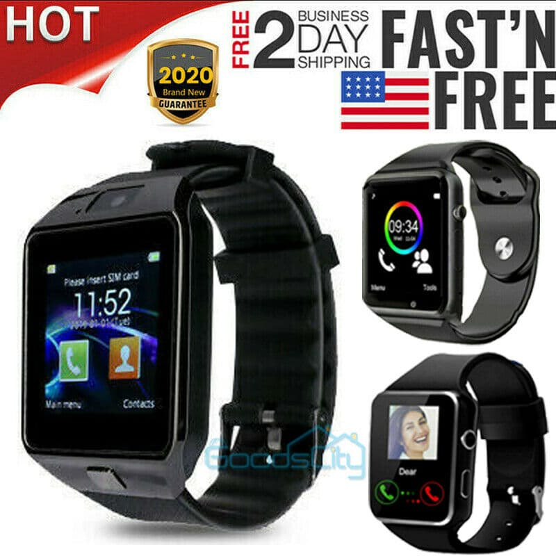 2021 Waterproof Bluetooth Smart Watch W/Cam Phone Mate For iphone IOS Android LG