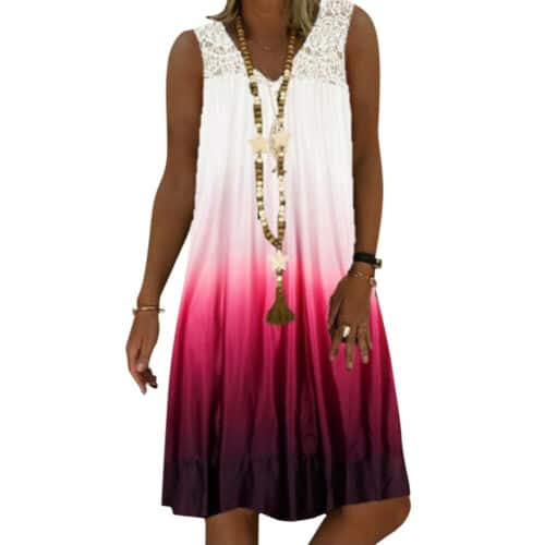 Women Ladies Summer Loose Mini Tunic Dress Casual Beach Sundress Tops Plus Size
